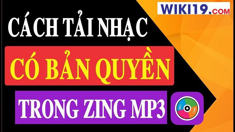 tải nhạc bản quyền zing mp3