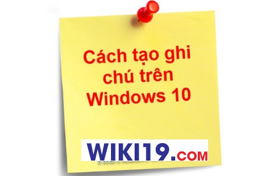 logo tạo ghi chú win 10