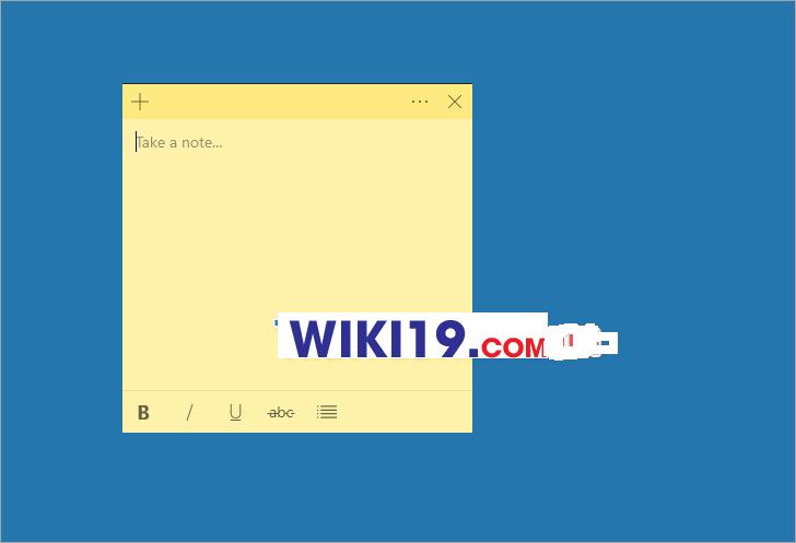 Tạo Ghi Chú Trên Desktop Win 10-1