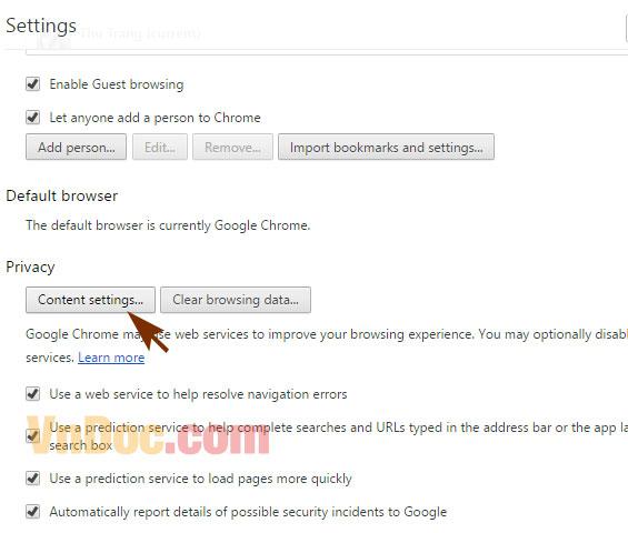 Cách Chặn Trang Web Tự Mở Trên Chrome2
