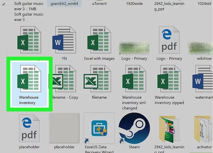 Mở tệp Excel