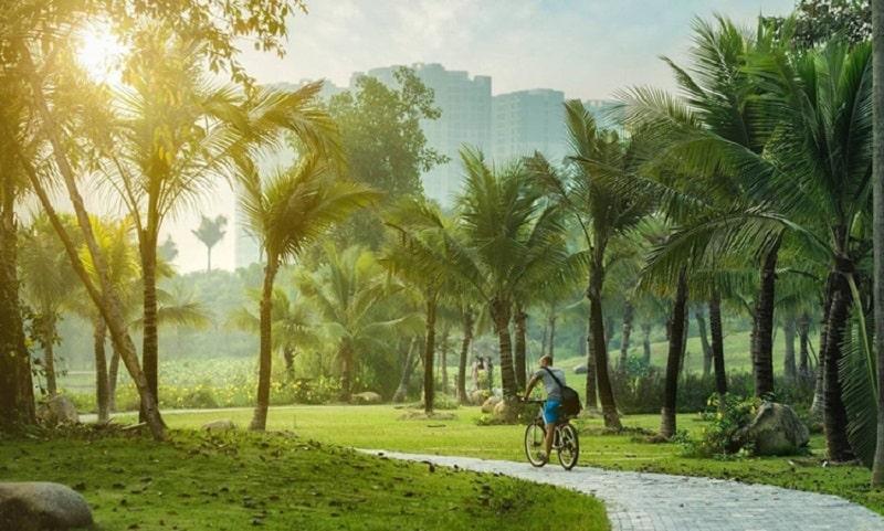 Tận hưởng không gian xanh tại Ecopark