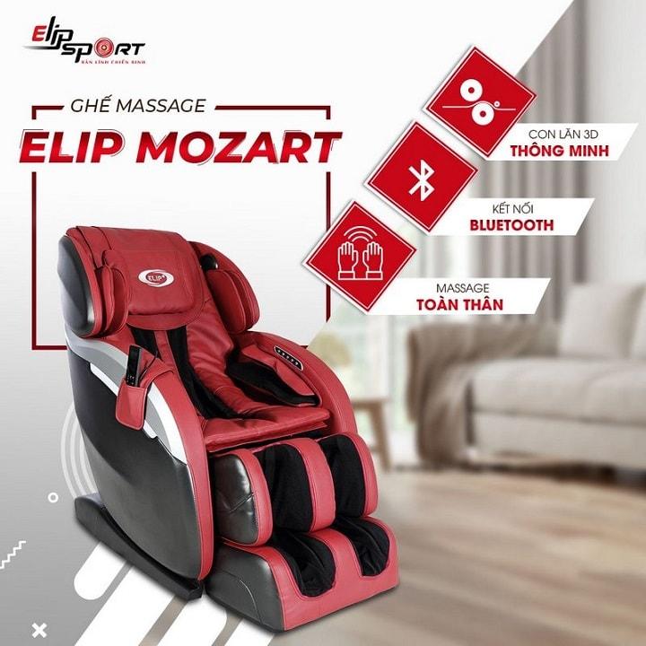 Ghế massage ELIP Mozart với những bản nhạc du dương thư giãn