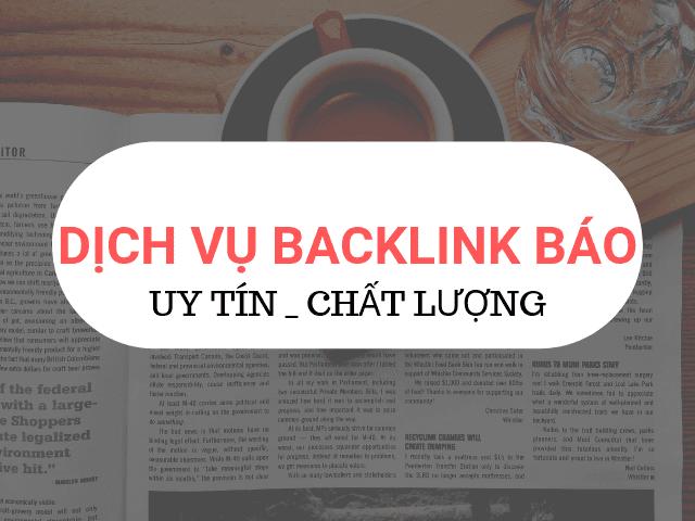 Backlink báo giúp từ khóa nhanh lên Top nhanh chóng, hiệu quả với chi phí thấp