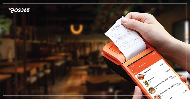 In hóa đơn thanh toán ngay trên thiết bị thu ngân cầm tay
