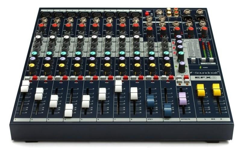 Thiết kế nhỏ gọn, đẹp mắt và thuận tiện sử dụng của mixer Soundcraft EFX 8
